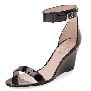 •KATE SPADE• Ronia Wedge Sandal Patent Leather